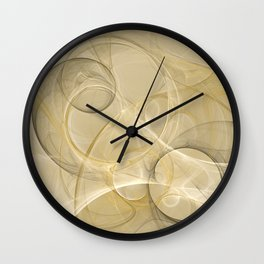 Series Abstract Art in Earth Tones 4 Wall Clock
