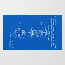 Football Patent - Blueprint Rug