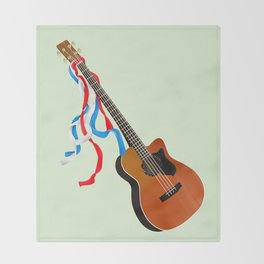 Acoustic Bass Throw Blanket