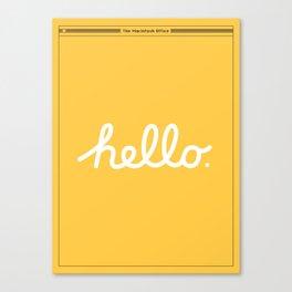 Hello: The Macintosh Office (Yellow) Canvas Print