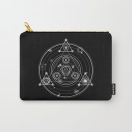 Sacred geometry black and white geometric art Carry-All Pouch