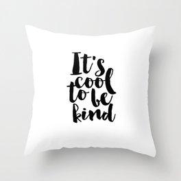 Be kind Be Brave Kids Gift Nursery Print Nursery Wall Art Children Print Typography Print Throw Pillow