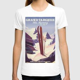 Grand Targhee, Alta, Wyoming ski poster T-shirt
