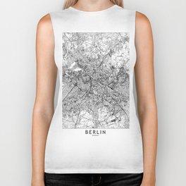 Berlin White Map Biker Tank