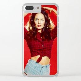 Catharine Bach, Daisy Duke Clear iPhone Case
