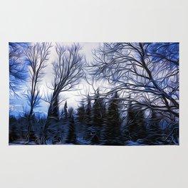 Winter Trees In Sweden Rug