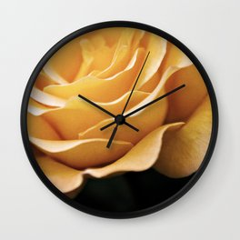Lady Rowena- Golden Rose  Wall Clock