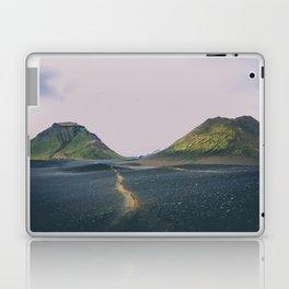 hiking trail through black volcanic sand Laptop & iPad Skin