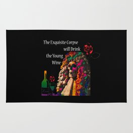 The Exquisite Corpse will Drink the Young Wine Rug