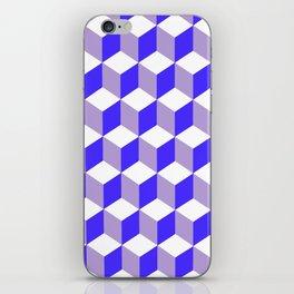 Diamond Repeating Pattern In Nebulas Blue and Grey iPhone Skin