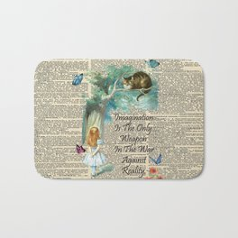 Alice In Wonderland Quote - Imagination - Dictionary Page Bath Mat