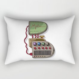 MACHINE LETTERS - B Rectangular Pillow