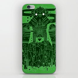 green sleeves iPhone Skin