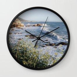 Avila Beach Bluffs Wall Clock