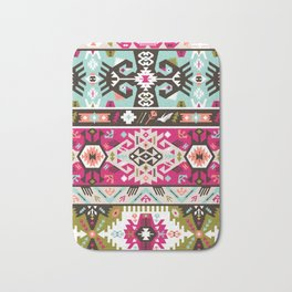 Fancy abstract geometric pattern in tribal style Bath Mat