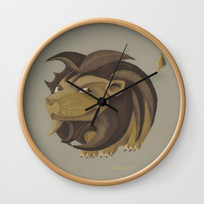 Leo (brown) Wall Clock
