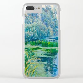 Václav Radimský (1867-1946) At The Confluence Colorful Bright Impressionist Oil Landscape Painting Clear iPhone Case