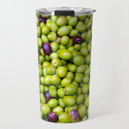 Green Olives pattern Travel Mug