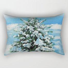 The Day After Snow Scene Art Rectangular Pillow