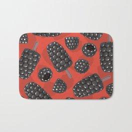 Blackberry and blackberry ice cteam pattern Bath Mat