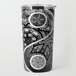 Yin Yang Zentangle Travel Mug