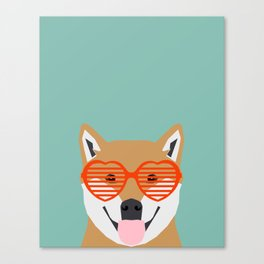 Shiba Inu Love - Gifts for pet owners dog person gifts shiba inu gifts customizable dog gifts cute Canvas Print