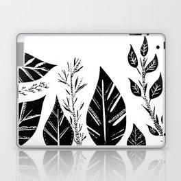Black & White Leaves Laptop & iPad Skin
