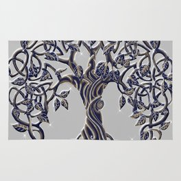 Tree of Life Silver Rug