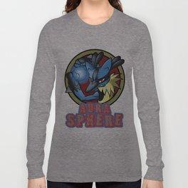 Lucarios's Aura Sphere Long Sleeve T-shirt