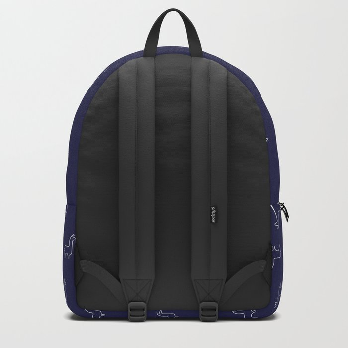 Baesic Llama Pattern (Navy Blue) Backpack