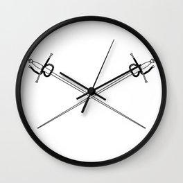 Rapier Foils Outline Wall Clock