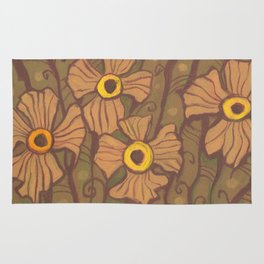 Yellow-eyed flowers Rug