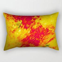 Orange, Yellow, and Blue Finger Painting Rectangular Pillow
