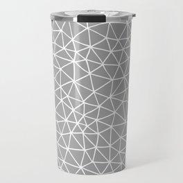 Connectivity - White on Grey Travel Mug