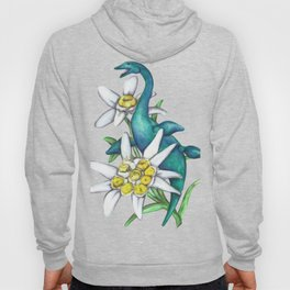 E is for Elasmosaur and Edelweiss Hoody
