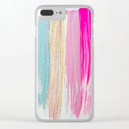 Unicorn Paint Splash Clear iPhone Case