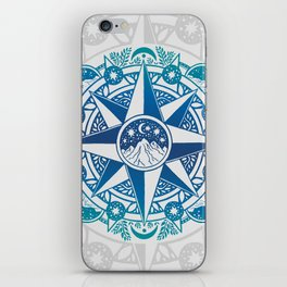 Journey to Moon Mountain | Turquoise Navy Ombré iPhone Skin