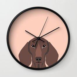 Remy - Daschund hipster dog, doxie, weiner dog, wiener dog,  Wall Clock