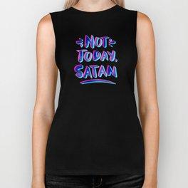 Not Today, Satan – Cyan & Magenta Palette Biker Tank