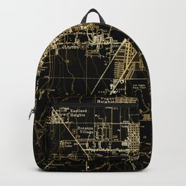 Las Vegas antique map, year 1952 Backpack