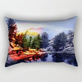 Colorado Flag/Landscape Rectangular Pillow