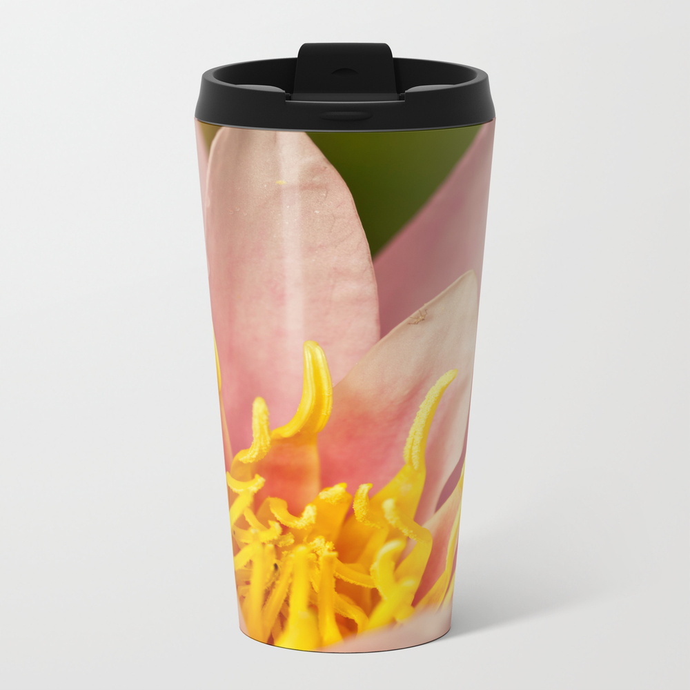 Inside A Pink Lily Metal Travel Mug by Wealie MTM932487