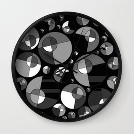 Bubble Grey 11 Wall Clock