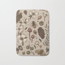 Nature Walks (Light Background) Bath Mat