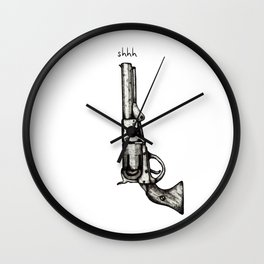 Silent Pistol Wall Clock