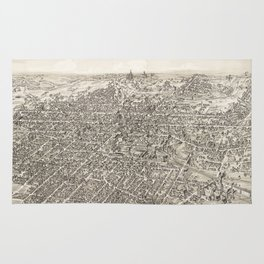 Vintage Pictorial Map of Springfield Ohio (1884) Rug