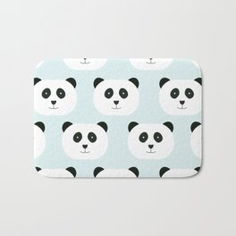 Panda Love- Mint Blue Bath Mat