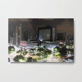 Portugual Square at Night - Fortaleza - Brazil Metal Print