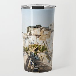 Afternoon in a white city Travel Mug