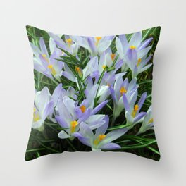 Lavender Crocus Throw Pillow